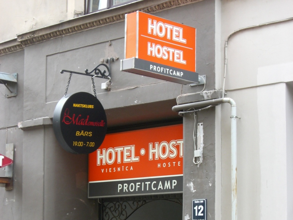 A hostel in Riga, Latvia