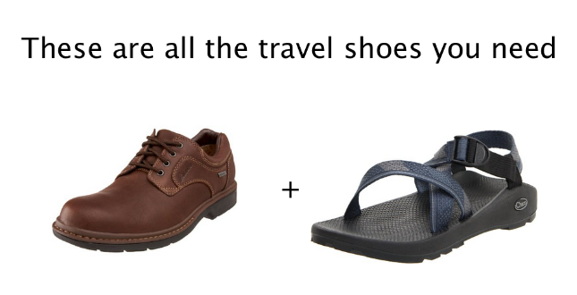 Best travel shoe setup for men