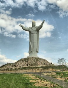 Christ the King statue in Poland.