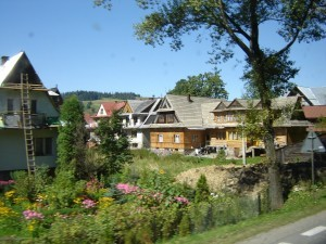 Houses in Zakopane, Poland