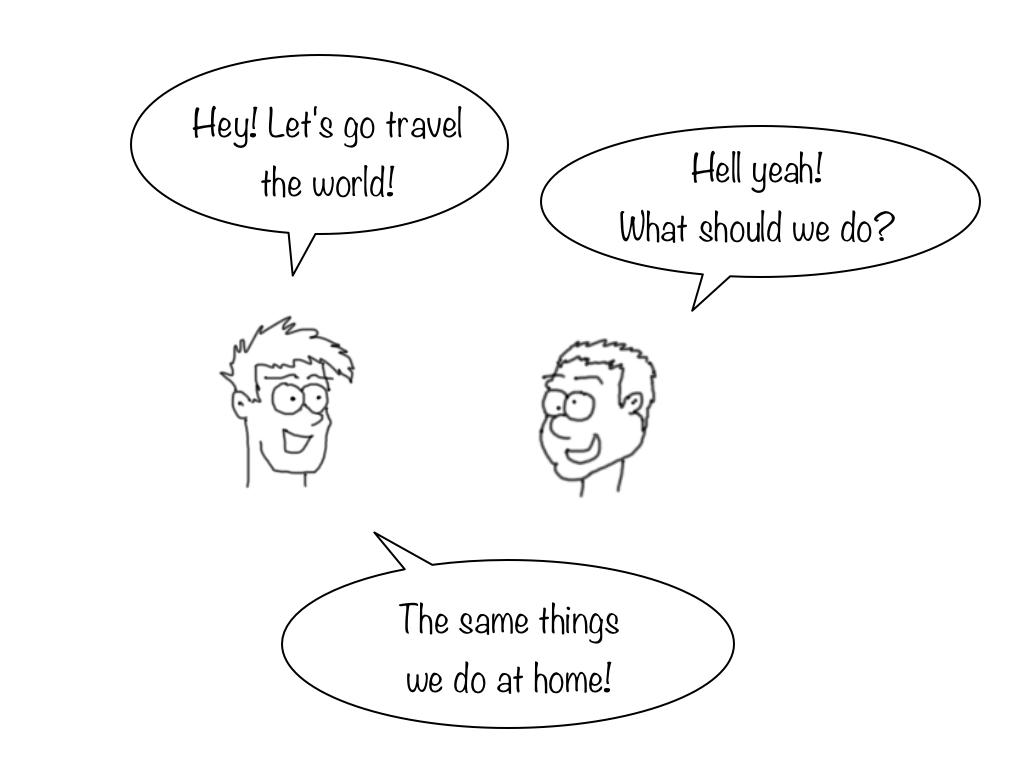 How to waste a trip cartoon