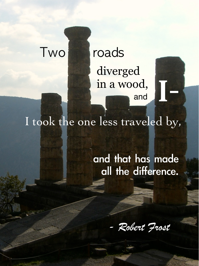 Travel quotes, Robert Frost