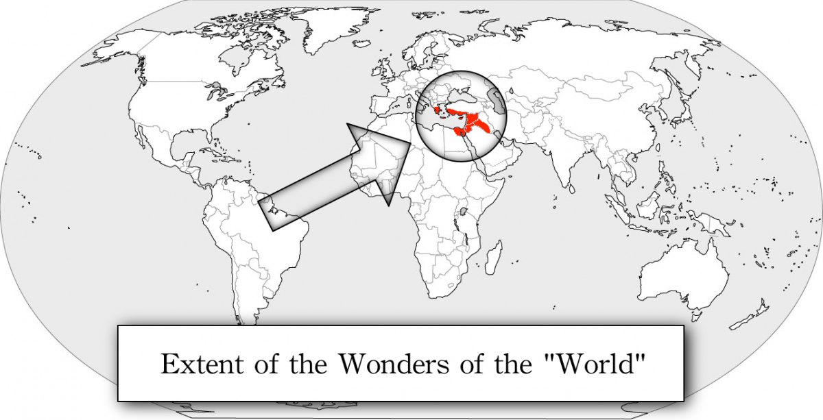 Wonders of the Ancient World map