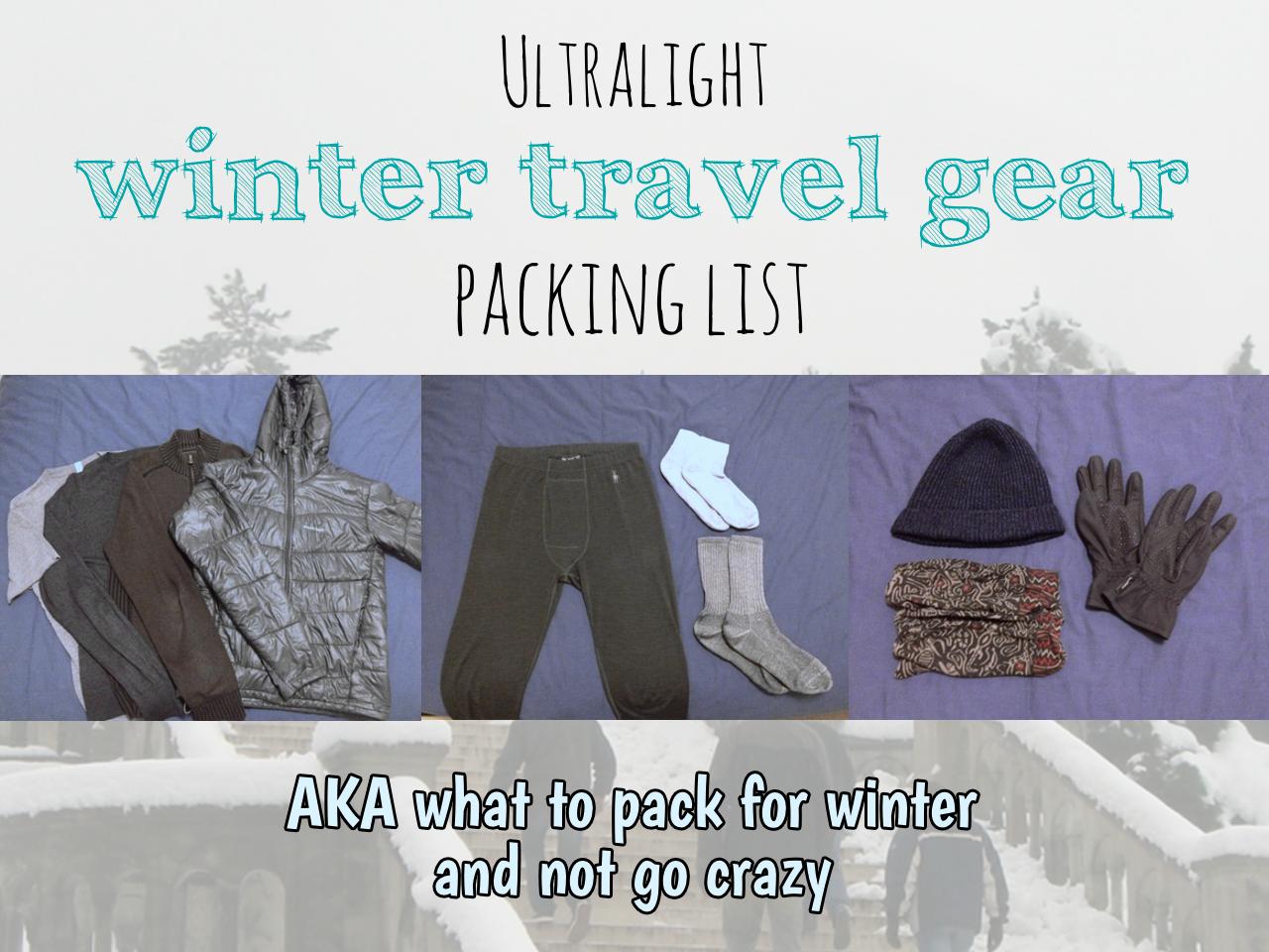 Winter gear packing list