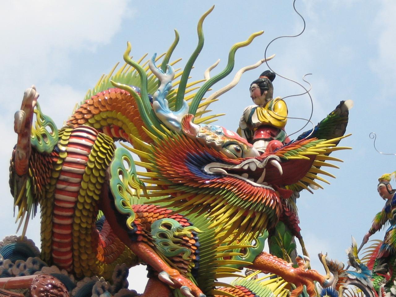 Rooftop dragon in Taiwan