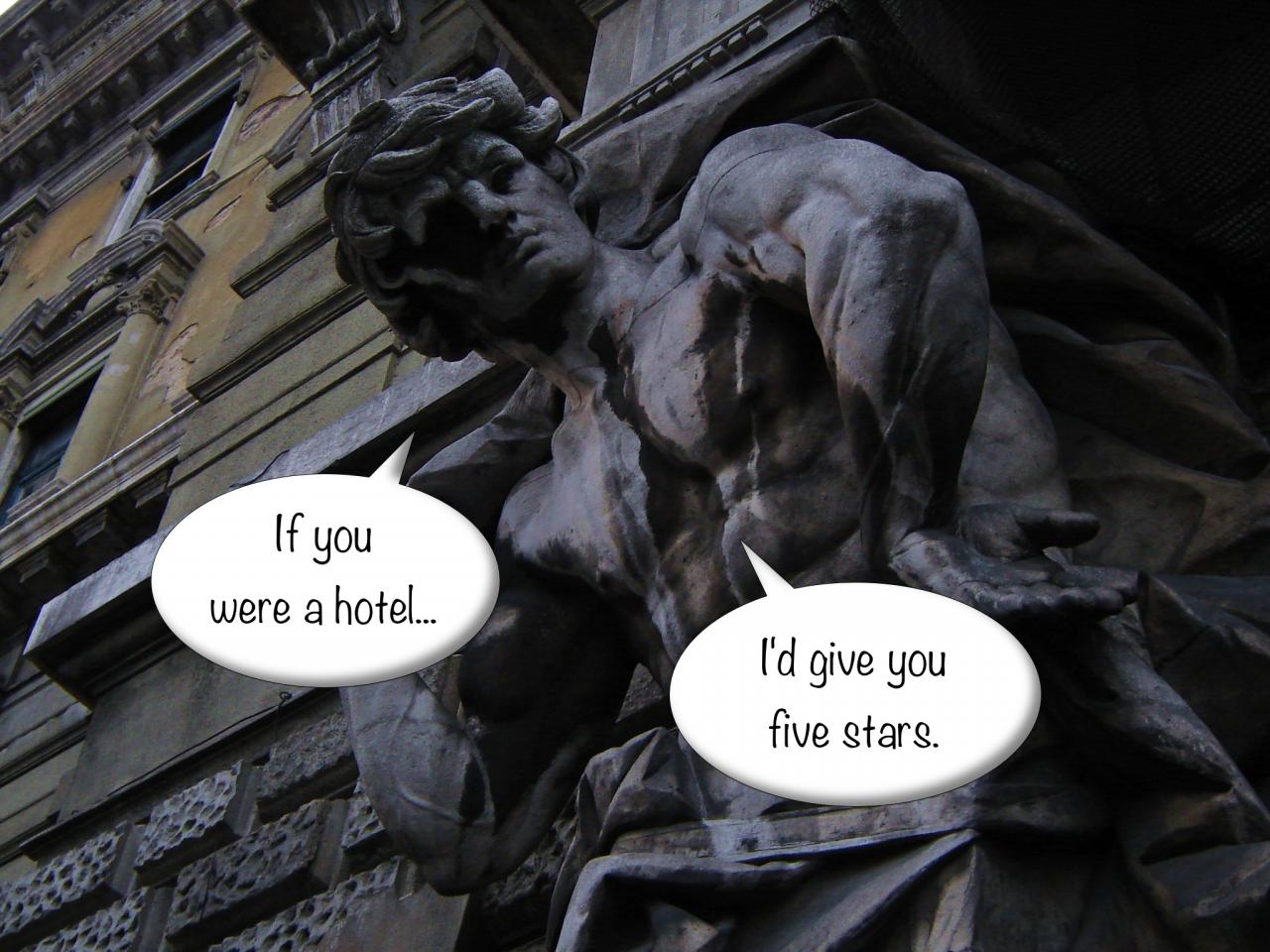 Flirtatious statue, Croatia
