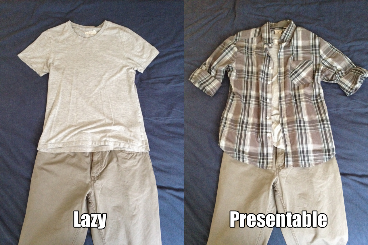 From lazy to presentable