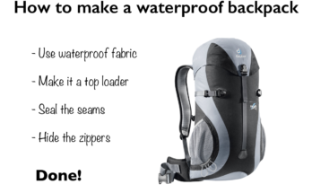 Waterproof Hiking Backpack Design