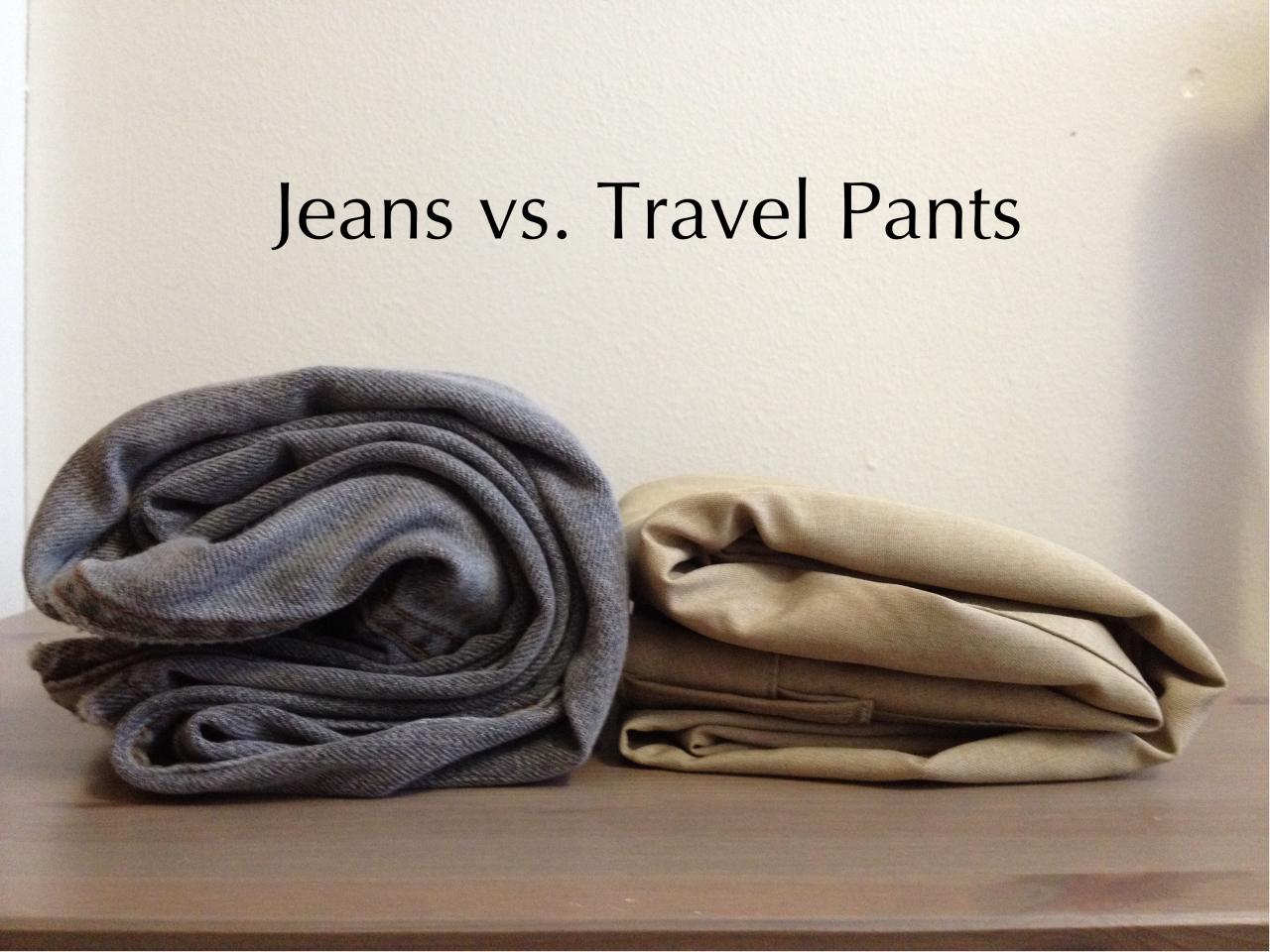 Jeans vs Travel Pants