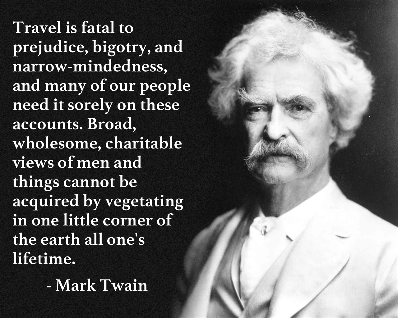 Image result for mark twain world travel quote