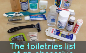 Travel Toiletries List