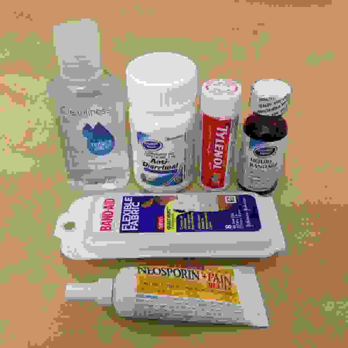 Basic first aid supplies