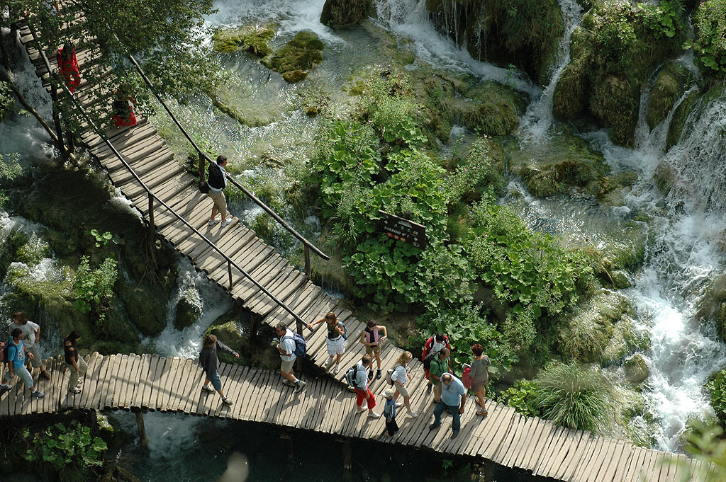 Plitvice National Park walkway