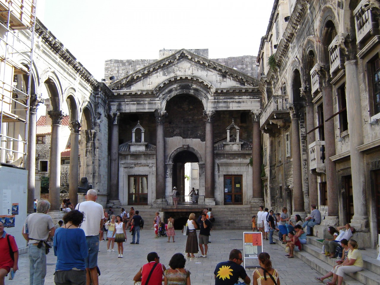 Roman palace courtyard in Split, Croatia