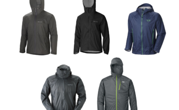Lightweight packable rain jackets