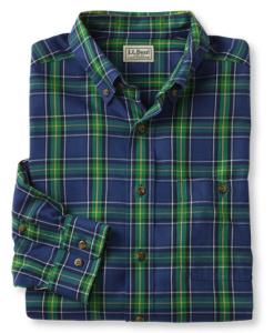 LL Bean Cotton Merino Sport Shirt
