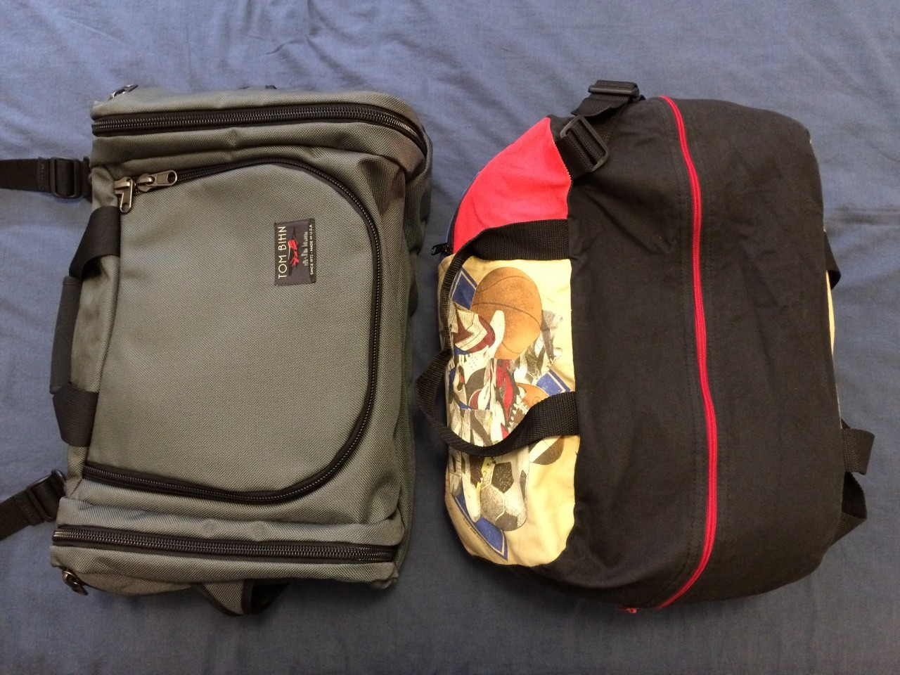 Duffel bags compartment entry comparison