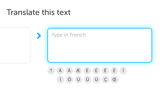 Duolingo accent mark tininess