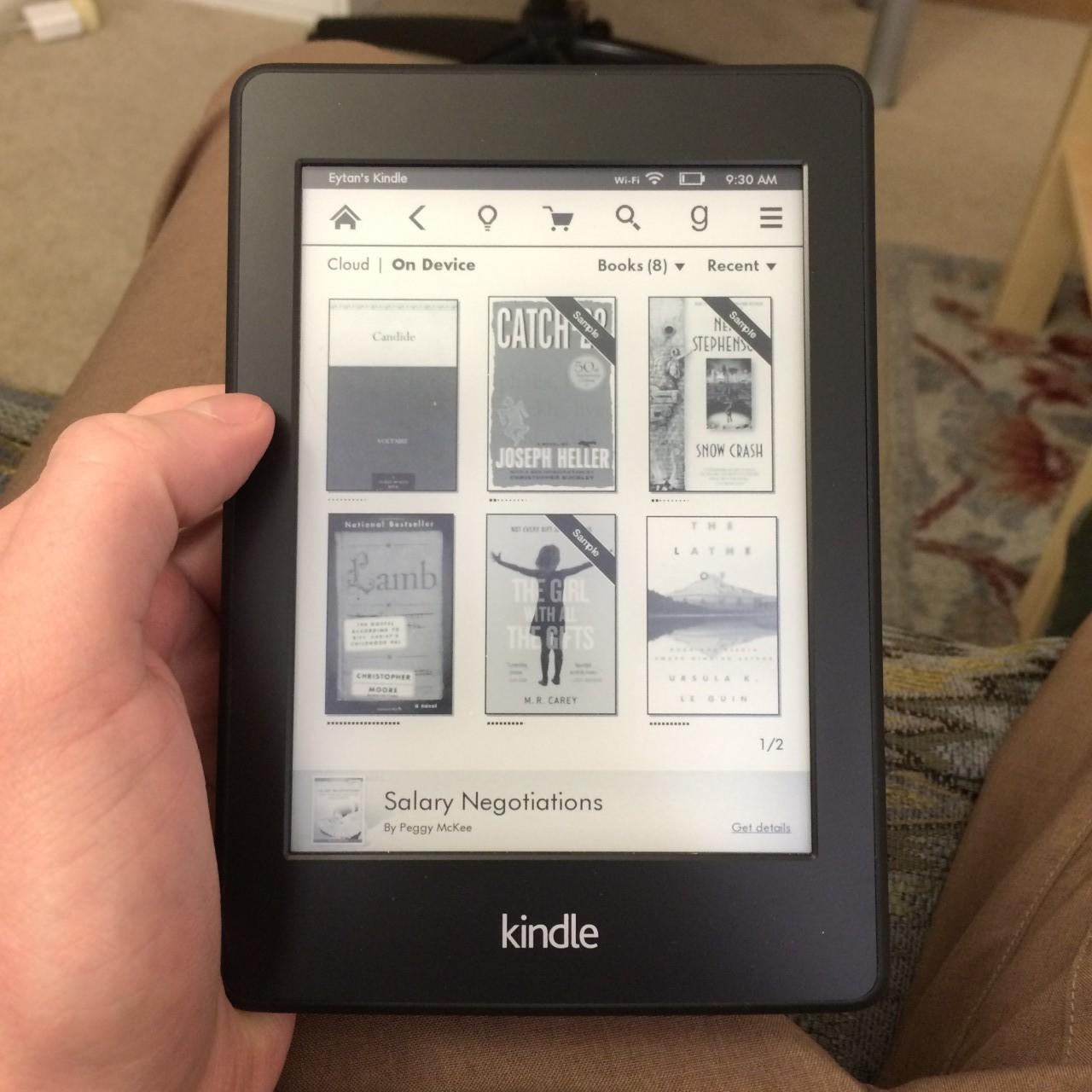 Kindle book sampling