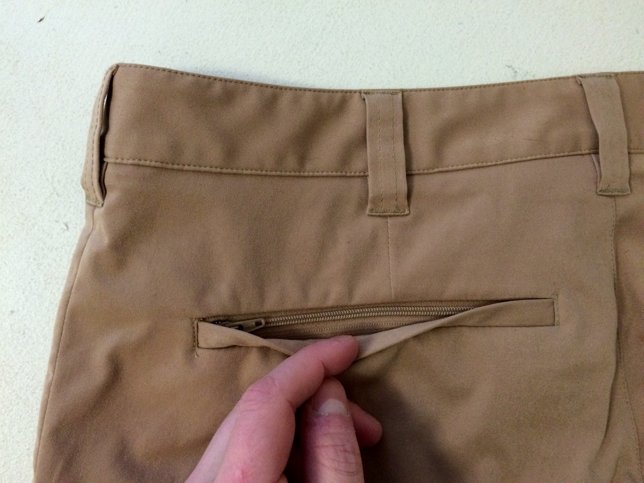 Bluffworks Chino Back Left Pocket