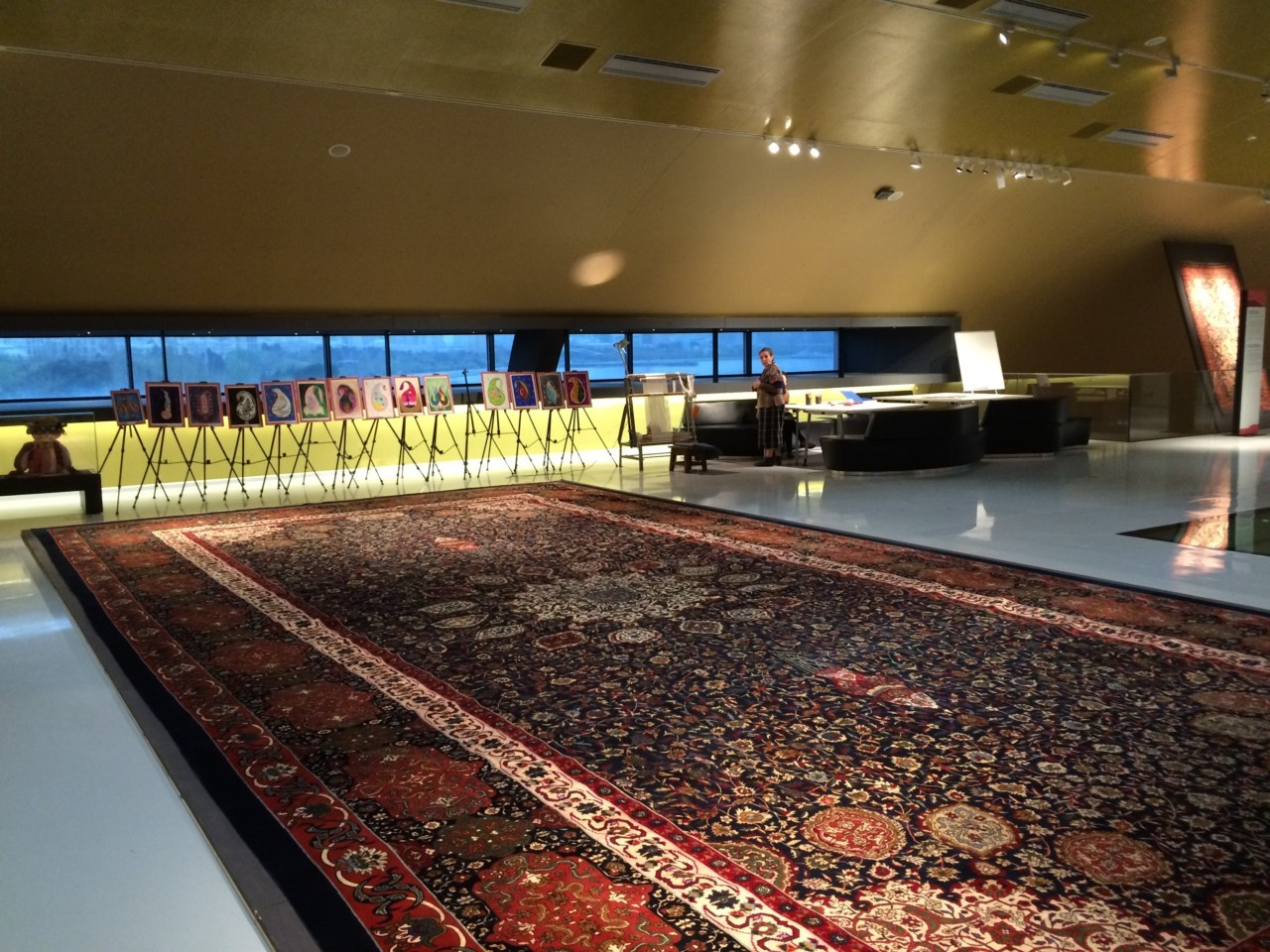 Giant Azerbaijani carpet