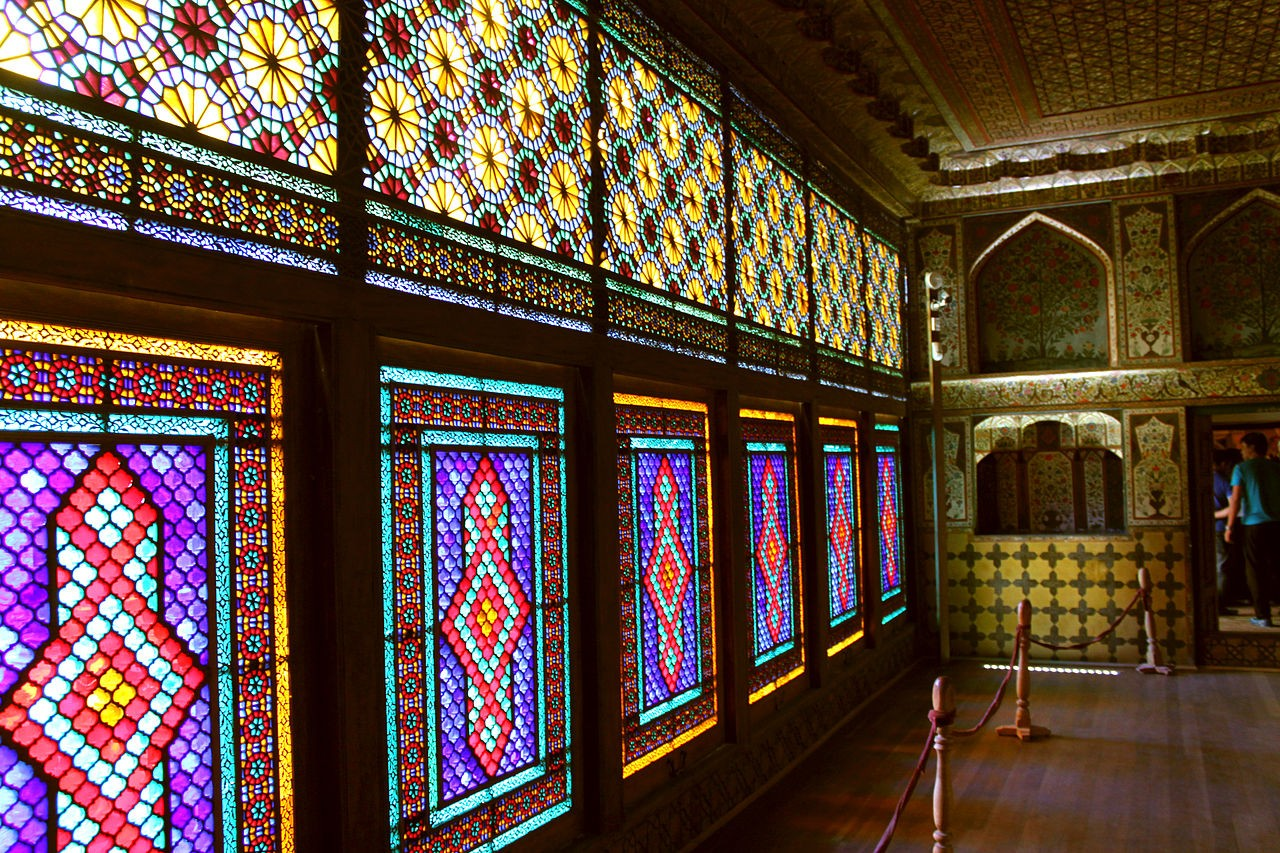 Sheki Khansaray Palace interior windows