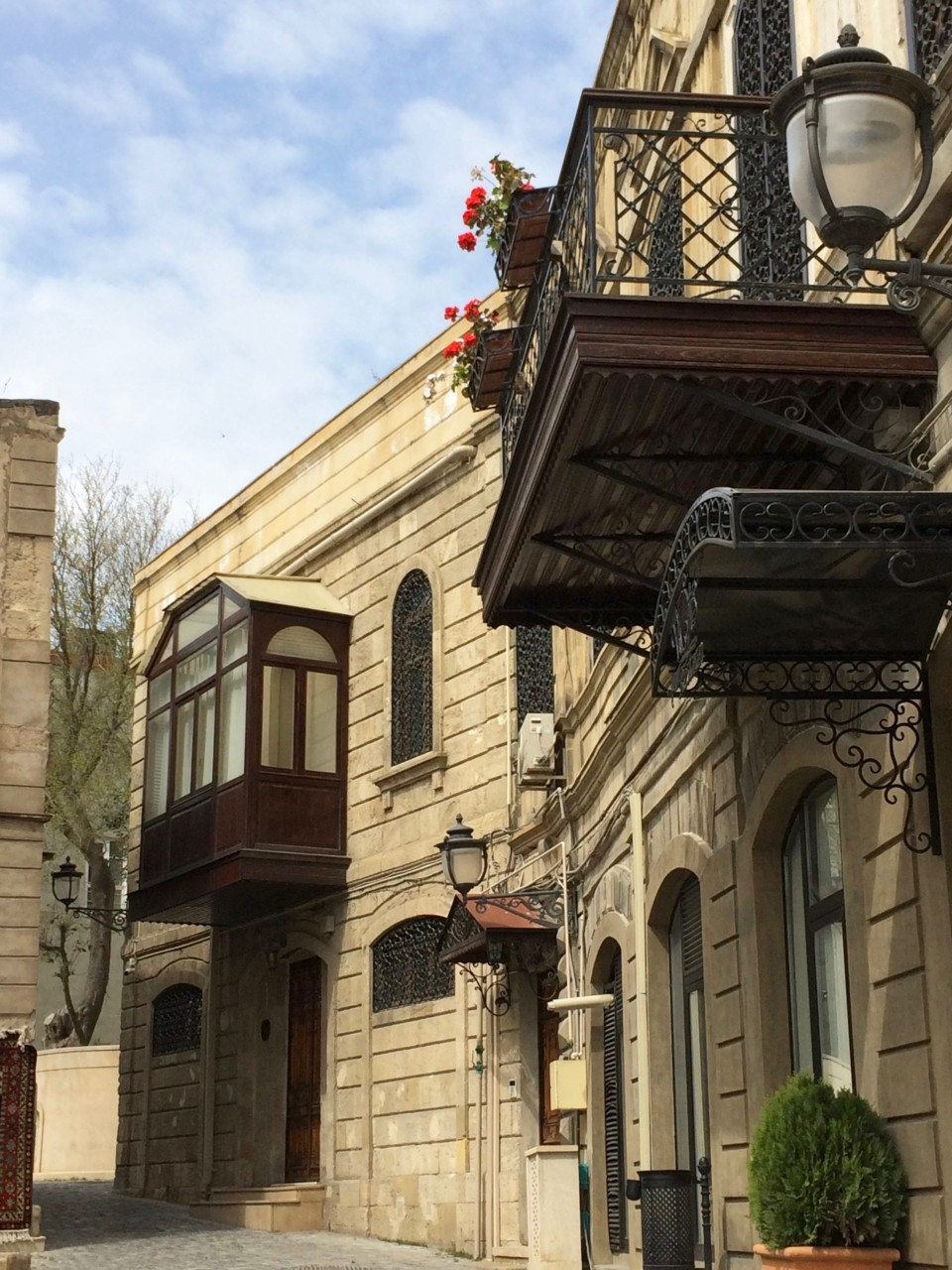 Baku streets and balconies