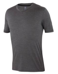 Ibex Essential silk and merino wool v-neck t-shirt