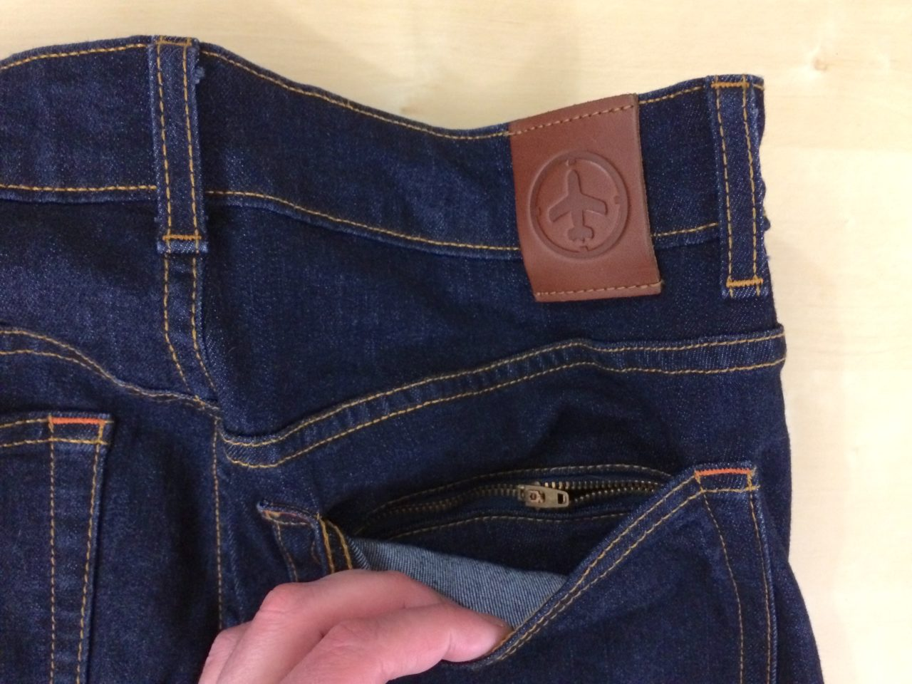 Aviator USA Jeans hidden back pocket