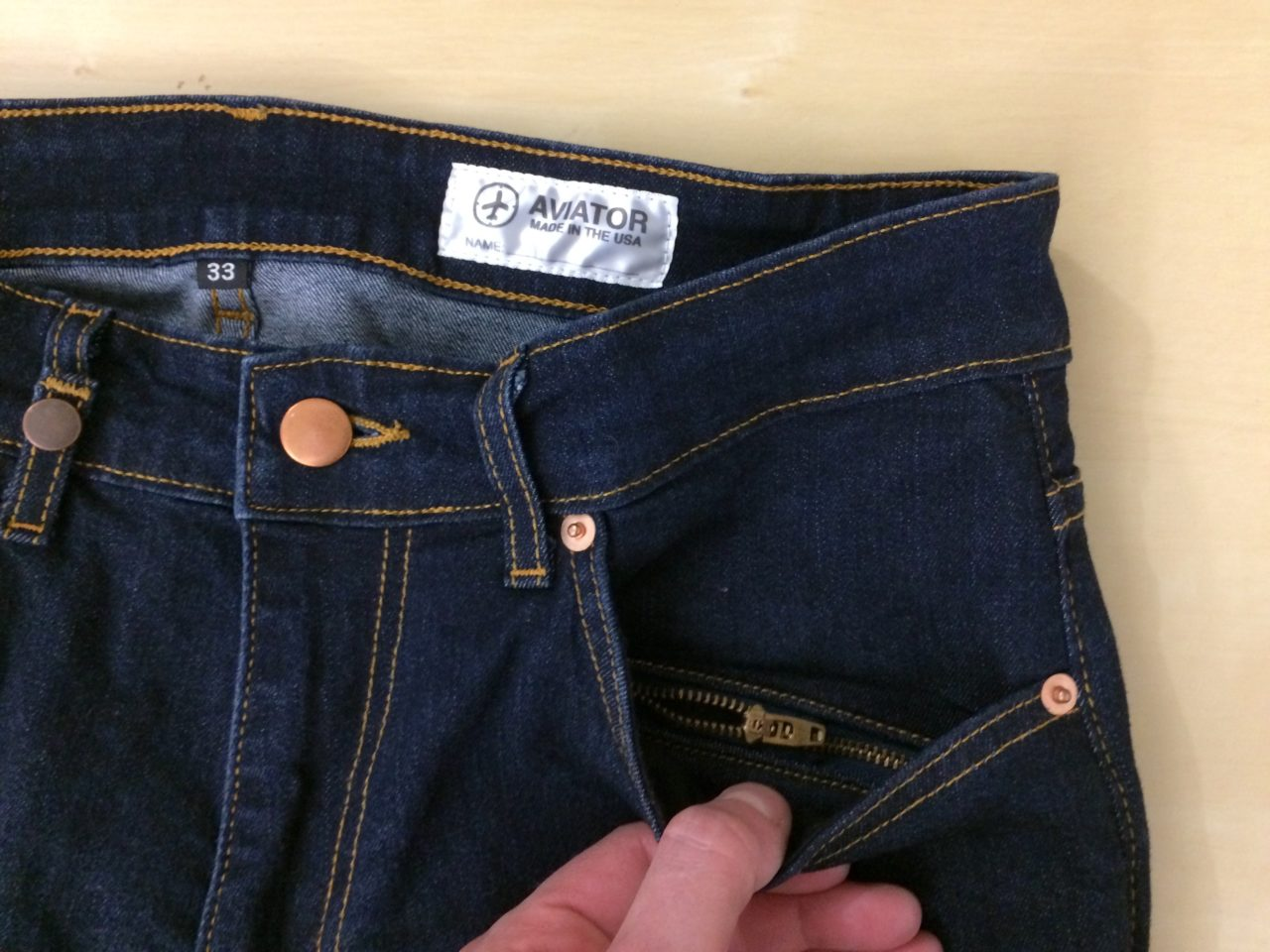 Aviator USA Jeans hidden front pocket