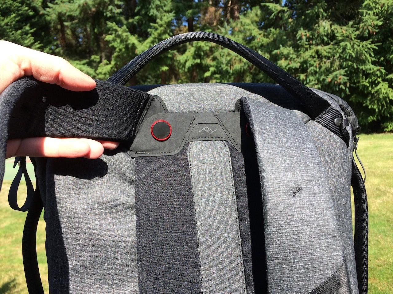 Peak Design Everyday Backpack shoulder strap rotation