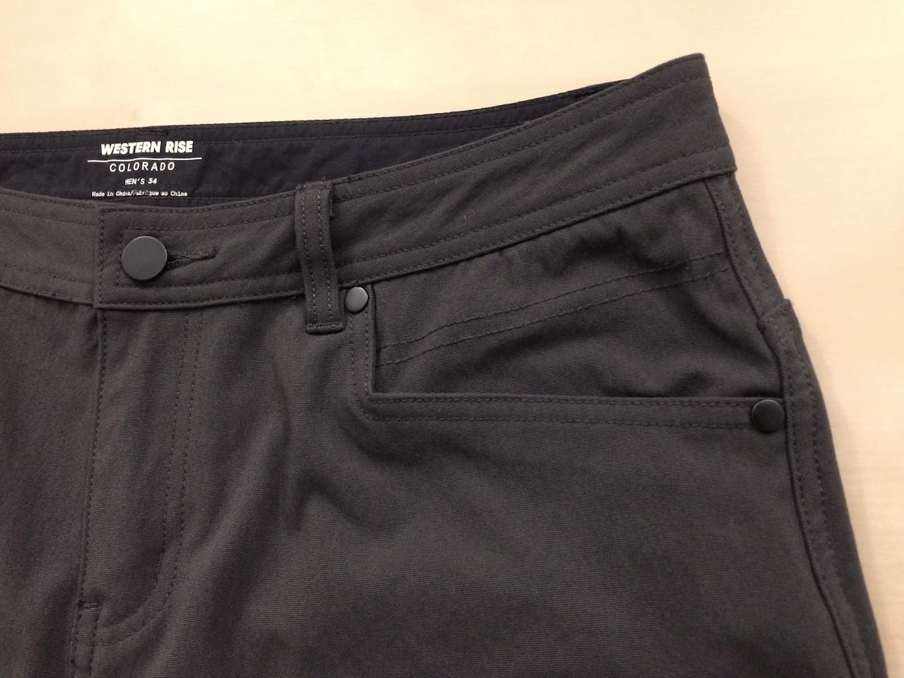 Western Rise AT Slim Rivet Pant front left pocket