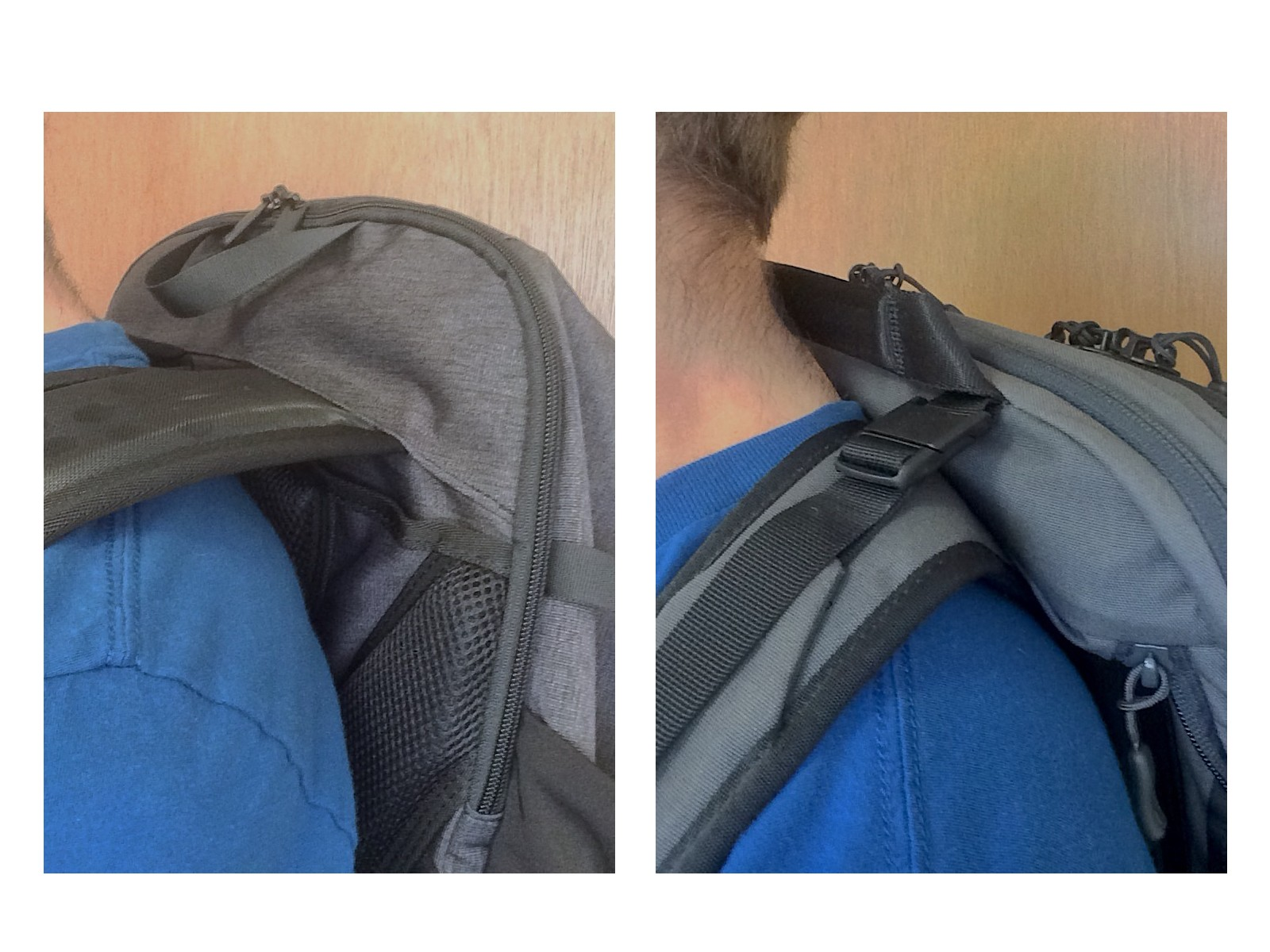 Tortuga Setout Backpack shoulder strap fit comparison