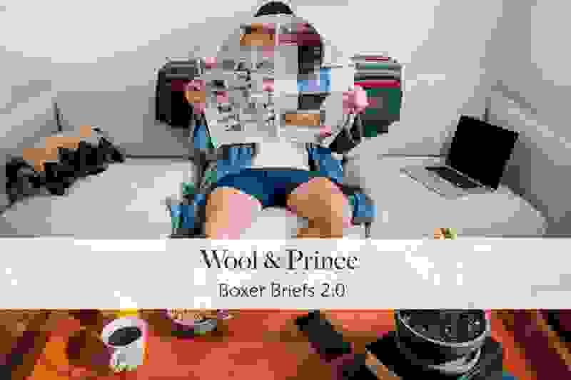 Wool and Prince boxer briefs 2.0 main promo shot